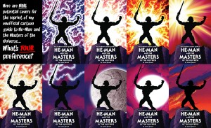 covers together 300x183 Vote for the cover of the Unofficial Cartoon Guide to He Man 2nd Printing!