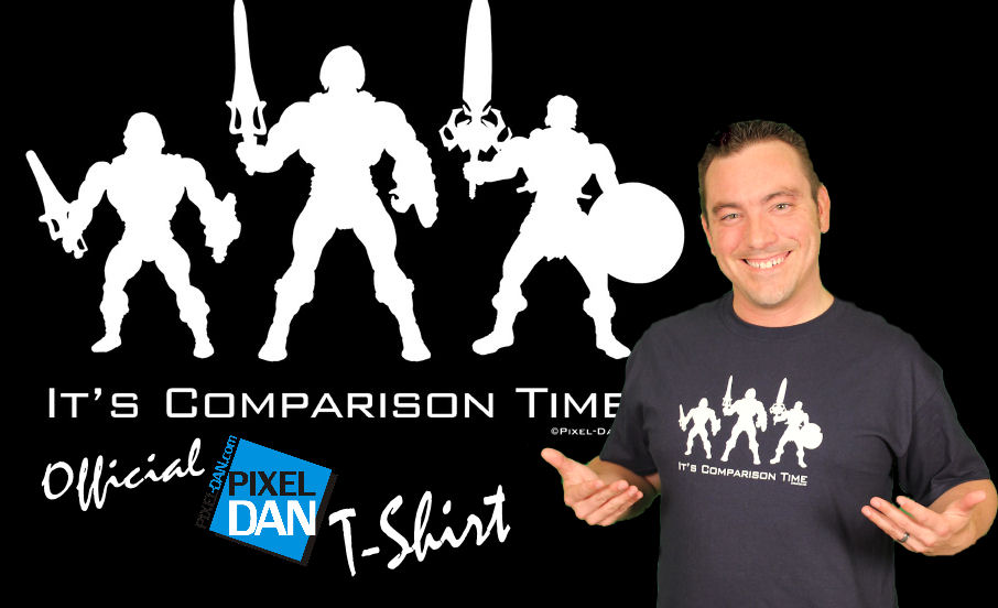 ComparisonTimeTShirtTitle Pixel Dan.com Store