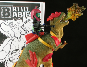 BattleBabiesThumb 300x232 Battle Babies Lil Trap Jaw and Hordeasaurus Toy Art Figure Review