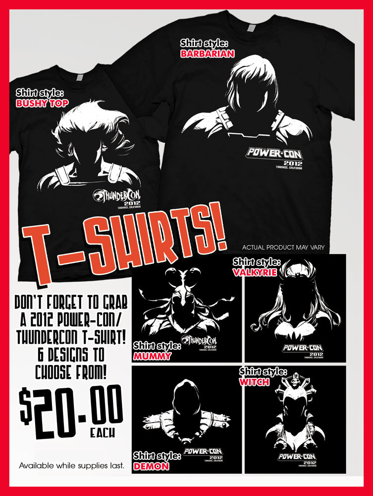 shirts 2012 Power Con ThunderCon 2012 Exclusive T shirts On Sale Through September