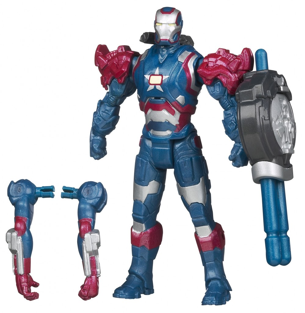 A1783 Iron Patriot 999x1024  Hasbros Marvel Iron Man 3 Iron Assemblers Action Figures Images