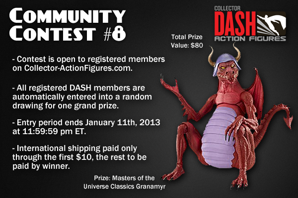CommunityContest8 New Sponsor: Collector Actionfigures.com   MOTUC Granamyr Giveaway!