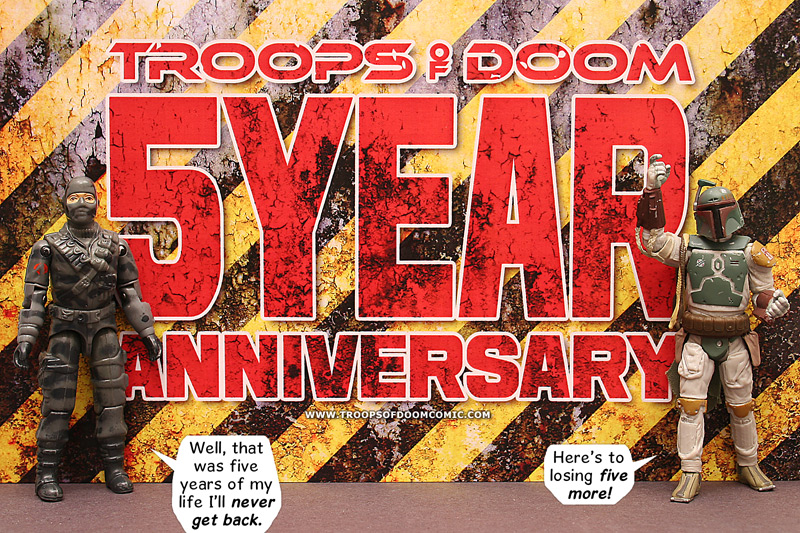 troops of doom 5 years1 Celebrating 5 Years of the Troops of Doom Comic with a Contest